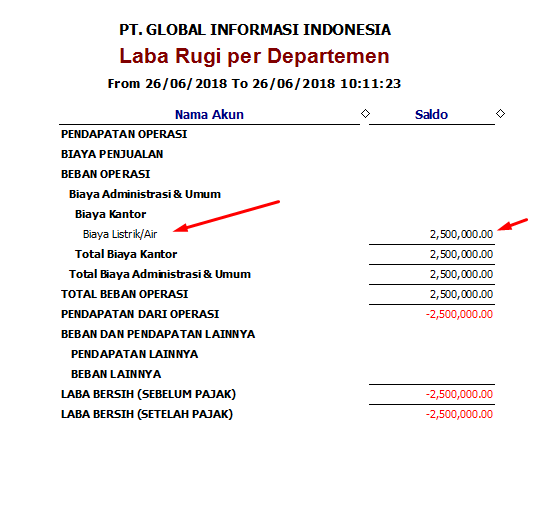 Fungsi fitur Departement di Easy Accounting 5