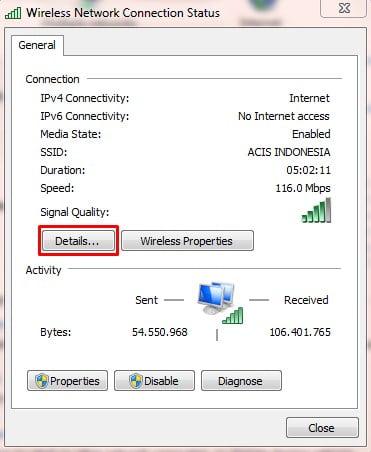 Cara Mengecek IP Address Komputer
