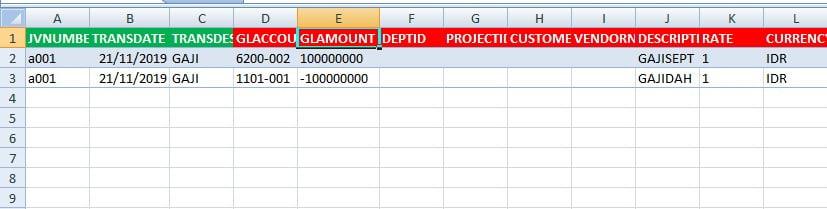 Cara Import Transaksi Buku Besar Dari Excel ke Accurate
