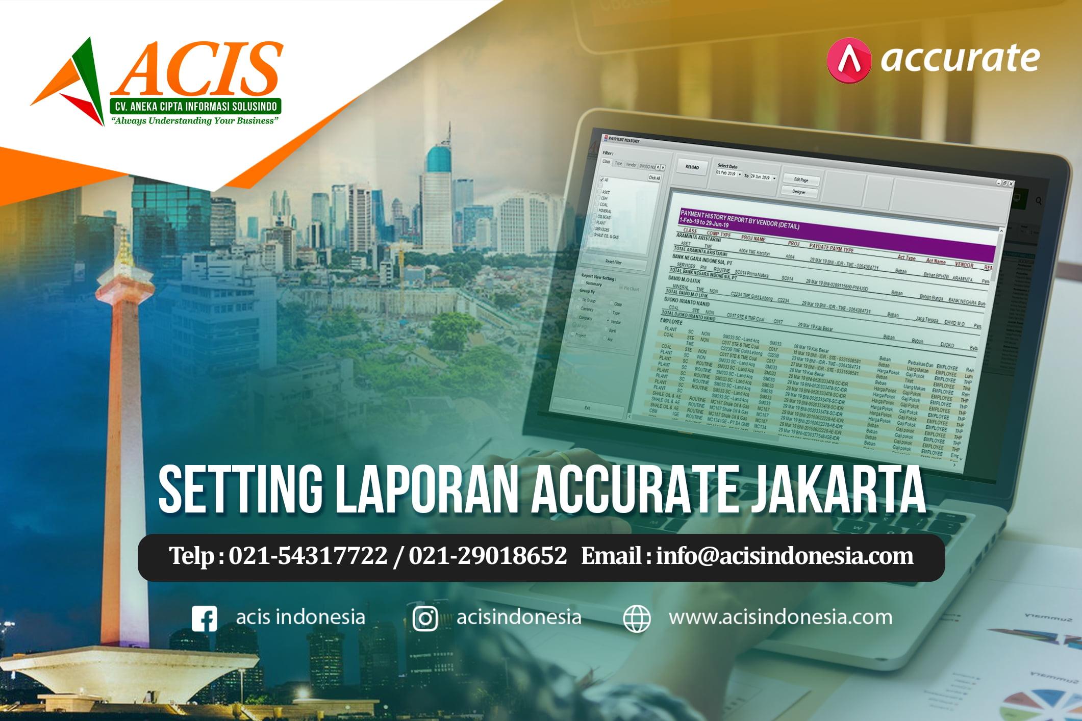 Setting Laporan Accurate Jakarta