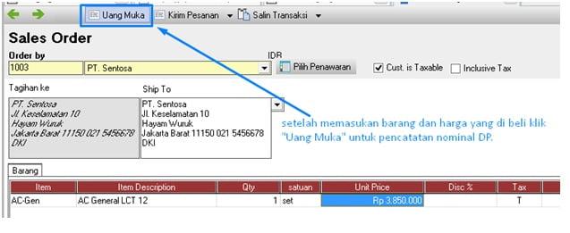 Cara Membuat Invoice DP