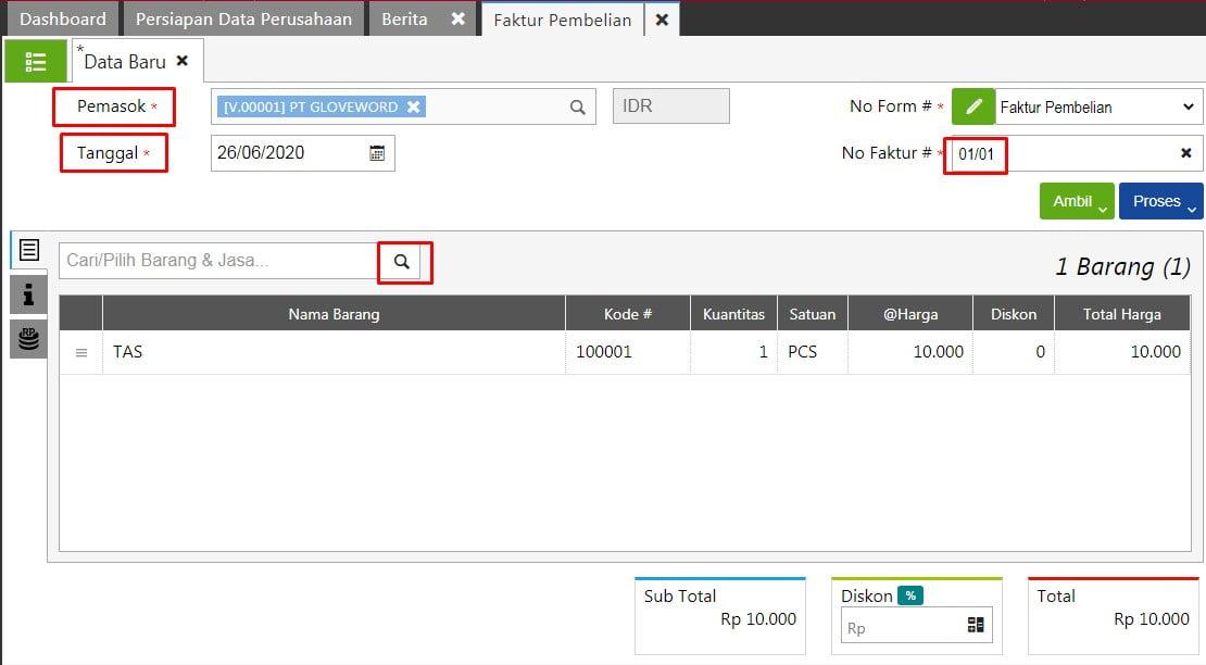 Cara Input Purchase Invoice Di Accurate Online