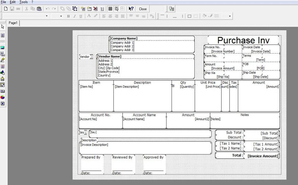 Cara Menampilkan Nomor RI Di Template Purchase Invoice