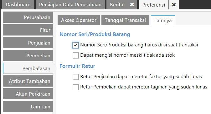 Cara Menggunakan Nomor SN Di Accurate Online
