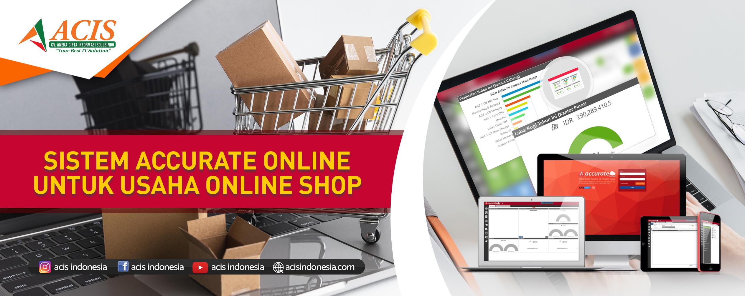 Accurate online untuk usaha online shop